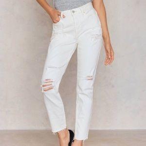 Free People lacey stilt jean I'm worn white